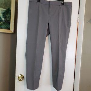 Banana Republic dark gray Sloan slim ankle pants